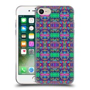 OFFICIAL AMY SIA TRIBAL Patchwork Pink 2 Soft Gel Case for Apple iPhone 7 (C_1F9_1AB71)