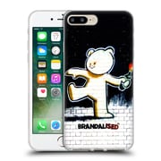 OFFICIAL BRANDALISED BANKSY TEXTURED ART Molotov Teddy Soft Gel Case for Apple iPhone 7 Plus (C_1FA_19A49)
