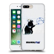 OFFICIAL BRANDALISED BANKSY TEXTURED ART Hollywood Rat Soft Gel Case for Apple iPhone 7 Plus (C_1FA_19A48)