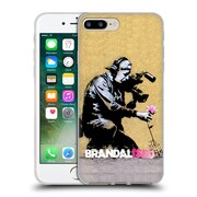 OFFICIAL BRANDALISED BANKSY WALL ART Flower Pull Soft Gel Case for Apple iPhone 7 Plus (C_1FA_19A54)