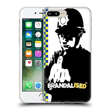 OFFICIAL BRANDALISED BANKSY WALL ART Rude Copper Soft Gel Case for Apple iPhone 7 Plus (C_1FA_19A4B)