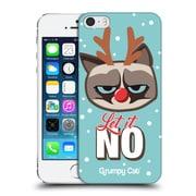OFFICIAL GRUMPY CAT GRUMPMOJI CHRISTMAS Let It No Hard Back Case for Apple iPhone 5 / 5s / SE (9_D_1CC15)