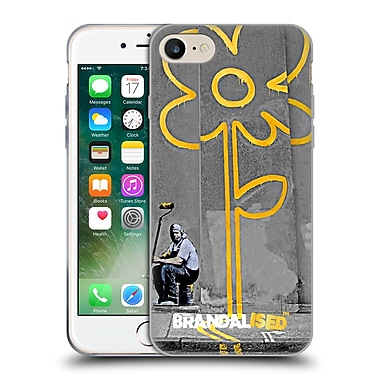 OFFICIAL BRANDALISED BANKSY GRAFFITI Yellow Lines Soft Gel Case for Apple iPhone 7 (C_1F9_18DD0)