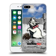 OFFICIAL BRANDALISED BANKSY TEXTURED ART Gaza Kitten Soft Gel Case for Apple iPhone 7 Plus (C_1FA_19A45)
