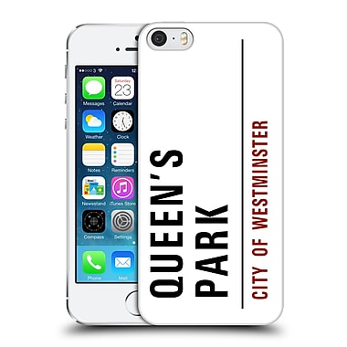 OFFICIAL CITY OF WESTMINSTER STREET SIGNS 4 Queens Park Hard Back Case for Apple iPhone 5 / 5s / SE (9_D_19D51)