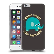 Official DINOMIKE FUN ILLUSTRATIONS An Elephant Never Cares Soft Gel Case for Apple iPhone 6 Plus / 6s Plus (C_10_1BB1B)