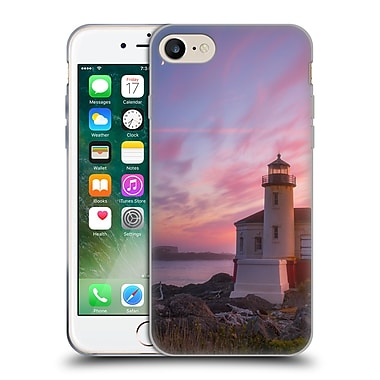 Official DARREN WHITE BEACHES AND OCEANS Storm At Face Rock Soft Gel Case for Apple iPhone 7 (C_1F9_1B1B6)