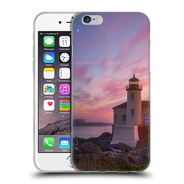 Official DARREN WHITE BEACHES AND OCEANS Storm At Face Rock Soft Gel Case for Apple iPhone 6 / 6s (C_F_1B1B6)