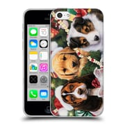 Official Christmas Mix Pets Jenny Newland Puppy Surprise Soft Gel Case for Apple iPhone 5c (C_E_1D396)
