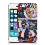 Official Christmas Mix Pets Jenny Newland Cats In Window Soft Gel Case for Apple iPhone 5 / 5s / SE (C_D_1D395)