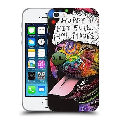 Official Christmas Mix Pets Dean Russo Pitbull Soft Gel Case for Apple iPhone 5 / 5s / SE (C_D_1D390)