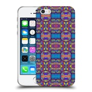 OFFICIAL AMY SIA TRIBAL Patchwork Blue Soft Gel Case for Apple iPhone 5 / 5s / SE (C_D_1AB70)