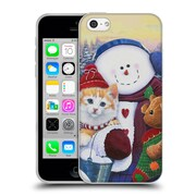 Official Christmas Mix Pets Jenny Newland Winter Wonder Pals Soft Gel Case for Apple iPhone 5c (C_E_1D394)