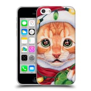 Official Christmas Mix Pets Jenny Newland Uh Oh! Santa! Soft Gel Case for Apple iPhone 5c (C_E_1D399)