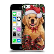 Official Christmas Mix Pets Jenny Newland Puppy Soft Gel Case for Apple iPhone 5c (C_E_1D397)