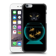 OFFICIAL VIN ZZEP FISH Black Cat Goldfish Hard Back Case for Apple iPhone 6 / 6s (9_F_1E256)