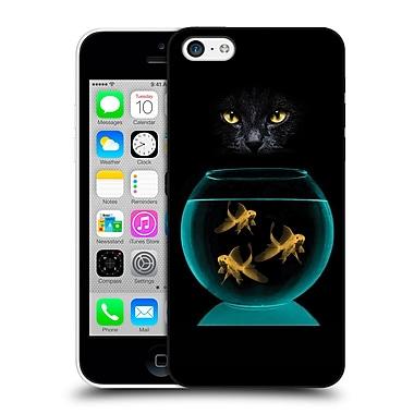 OFFICIAL VIN ZZEP FISH Black Cat Goldfish Hard Back Case for Apple iPhone 5c (9_E_1E256)