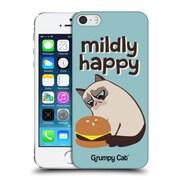 OFFICIAL GRUMPY CAT GRUMPMOJI Mildly Happy Hard Back Case for Apple iPhone 5 / 5s / SE (9_D_1CC10)