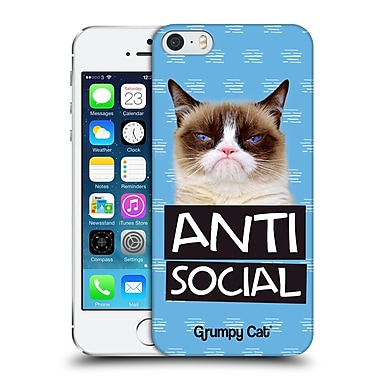 OFFICIAL GRUMPY CAT QUOTES Antisocial Hard Back Case for Apple iPhone 5 / 5s / SE (9_D_1CC1B)