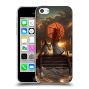 Official Daniel Conway Red Umbrella Silent Silhouette Soft Gel Case for Apple iPhone 5c (C_E_1C2C6)