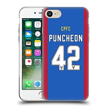 Official Crystal Palace FC 2016/17 Players Home Kit Jason Puncheon Soft Gel Case for Apple iPhone 7 (C_1F9_1E625)