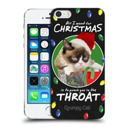 OFFICIAL GRUMPY CAT CHRISTMAS All I Want Hard Back Case for Apple iPhone 5 / 5s / SE (9_D_1CC06)