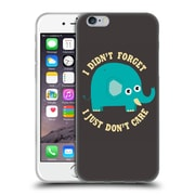 Official DINOMIKE FUN ILLUSTRATIONS An Elephant Never Cares Soft Gel Case for Apple iPhone 6 / 6s (C_F_1BB1B)