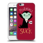 Official DINOMIKE FUN ILLUSTRATIONS Mornings Suck Soft Gel Case for Apple iPhone 6 / 6s (C_F_1BB1F)