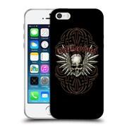 OFFICIAL DEF LEPPARD DESIGN Skull 2 Soft Gel Case for Apple iPhone 5 / 5s / SE (C_D_1D6D7)