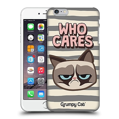 OFFICIAL GRUMPY CAT GRUMPMOJI Who Cares Hard Back Case for Apple iPhone 6 Plus / 6s Plus (9_10_1CC0A)