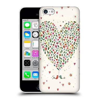 OFFICIAL TURNOWSKY BOLD BEAUTIFUL Heart Of Flowers Hard Back Case for Apple iPhone 5c (9_E_1CE2E)