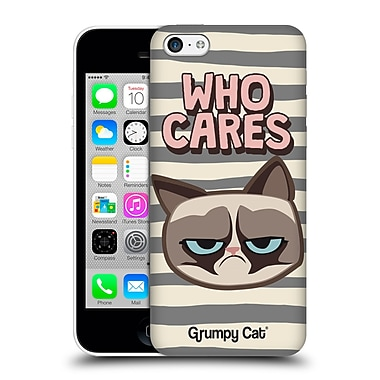 OFFICIAL GRUMPY CAT GRUMPMOJI Who Cares Hard Back Case for Apple iPhone 5c (9_E_1CC0A)