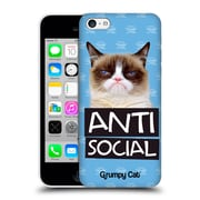 OFFICIAL GRUMPY CAT QUOTES Antisocial Hard Back Case for Apple iPhone 5c (9_E_1CC1B)