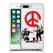 OFFICIAL BRANDALISED BANKSY TEXTURED ART Soldiers Soft Gel Case for Apple iPhone 7 Plus (C_1FA_19A4A)