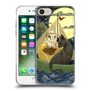 OFFICIAL ANNE LAMBELET FICTION Owl And Pussycat Soft Gel Case for Apple iPhone 7 (C_1F9_1BDC4)