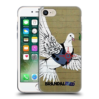 OFFICIAL BRANDALISED BANKSY GRAFFITI Bulletproof Dove Soft Gel Case for Apple iPhone 7 (C_1F9_18DD7)