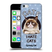 OFFICIAL GRUMPY CAT QUOTES Hate Hard Back Case for Apple iPhone 5c (9_E_1CC1A)