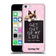 OFFICIAL GRUMPY CAT QUOTES Get Out Hard Back Case for Apple iPhone 5c (9_E_1CC1C)