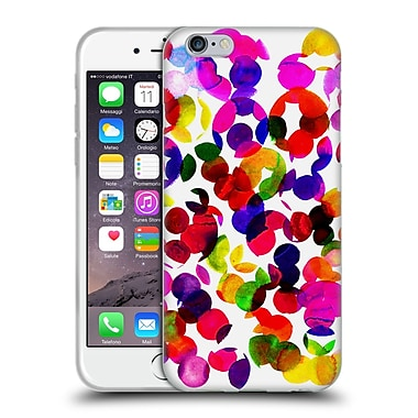 OFFICIAL AMY SIA WATERCOLOUR SPOTS Sunshine Red Soft Gel Case for Apple iPhone 6 / 6s (C_F_1AB7D)
