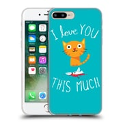 Official DINOMIKE FUN ILLUSTRATIONS I Love You This Much Soft Gel Case for Apple iPhone 7 Plus (C_1FA_1BB1D)