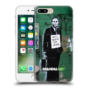 OFFICIAL BRANDALISED BANKSY TEXTURED ART Work For Idiots Soft Gel Case for Apple iPhone 7 Plus (C_1FA_19A47)