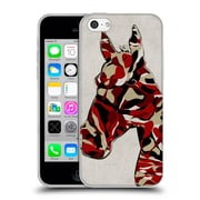 OFFICIAL ANGELO CERANTOLA ANIMALS Camouflage Horse Soft Gel Case for Apple iPhone 5c (C_E_1A393)