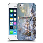 Official Christmas Mix Winter Wonderland Nicky Boehme Lighthouse Merriment Soft Gel Case for Apple iPhone 5 / 5s / SE