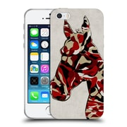 OFFICIAL ANGELO CERANTOLA ANIMALS Camouflage Horse Soft Gel Case for Apple iPhone 5 / 5s / SE (C_D_1A393)