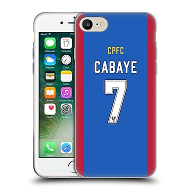 Official Crystal Palace FC 2016/17 Players Home Kit Yohan Cabaye Soft Gel Case for Apple iPhone 7 (C_1F9_1E62B)