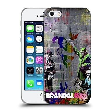 OFFICIAL BRANDALISED BANKSY COLOURED ART Spy Soft Gel Case for Apple iPhone 5 / 5s / SE (C_D_18DFA)