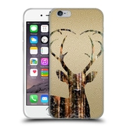 OFFICIAL ANGELO CERANTOLA ANIMALS Deer Gold Soft Gel Case for Apple iPhone 6 / 6s (C_F_1A392)