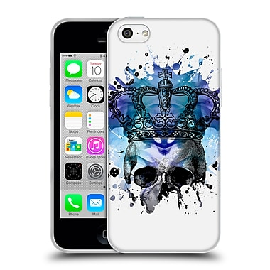OFFICIAL ANGELO CERANTOLA SKULLS Why Be Blue Soft Gel Case for Apple iPhone 5c (C_E_1A39E)