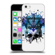 OFFICIAL ANGELO CERANTOLA SKULLS Why Be Blue Soft Gel Case for Apple iPhone 5c (C_E_1A39E)