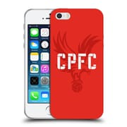 Official Crystal Palace FC The Eagles Eagle Red Soft Gel Case for Apple iPhone 5 / 5s / SE (C_D_1E18A)